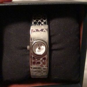 Authentic Coach Scout Bangle Watch - Silver